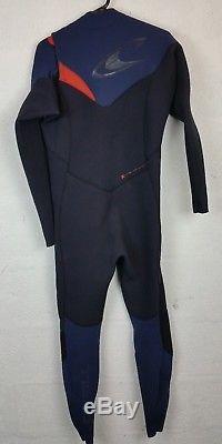 O'Neill Return Wetsuit- Hyperfreak 4/3mm ChestZip Blk/Navy/Red Men's Size L