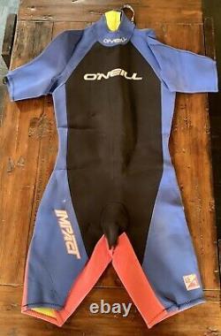 O'Neill Wetsuit Shorty Suit Vintage Wet Suit Oneill Mens Size Large 90's Colors