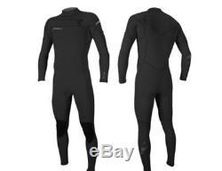 O'Neill mens Hyperfreak 3/2mm Full length Wetsuit slate black front zip L XL