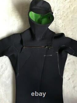 Patagonia Mens 5mm Hooded Wetsuit Black Surfing LARGE SHORT