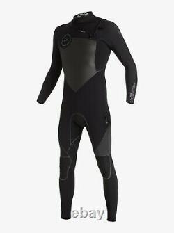 QUIKSILVER Highline Performance 4/3mm Chest Zip Full Wetsuit LARGE MEN'S