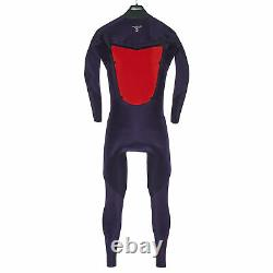 Quiksilver 3/2mm Syncro Chest Zip Mens Surf Gear Wetsuit Black White All Sizes