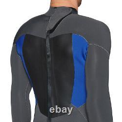 Quiksilver 4/3mm Prologue Back Zip Mens Surf Gear Wetsuit Jet Black Nite Blue