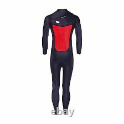 Quiksilver 4/3mm Syncro Chest Zip Mens Surf Gear Wetsuit Black White All Sizes