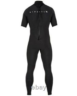 RIP CURL Men's 2mm AGGROLITE BZ S/S Wetsuit BLK Large Tall NWT LAST ONE
