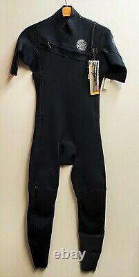 RIP CURL Men's 2mm AGGROLITE CZ S/S Wetsuit BLK Large Short NWT