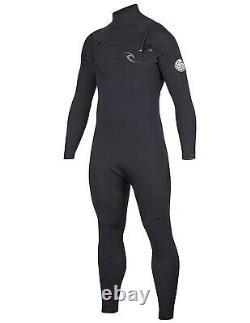 RIP CURL Men's 4/3 DAWN PATROL CZ Wetsuit BLK Large Short NWT