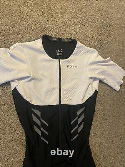 ROKA Men's Elite Aero II Sleeveless Tri Suit White/Black Size Large L Triathlon