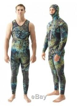 Riffe 5mm Digi-Tek Camo Wetsuit 2 Set Size X-Large Freediving Spearfishing SCUBA