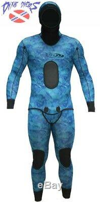 Riffe Cryptic Camo 3mm Wetsuit 2 piece Set Sz X-Large 56 Freediving Spearfishing