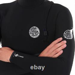 Rip Curl 4/3mm E Bomb Zipperless Mens Wetsuit Black All Sizes