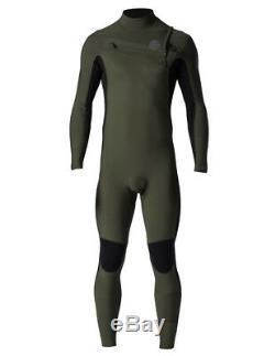 Rip Curl Aggrolite 4/3mm Chest Zip Wetsuit Men's Khaki X-Large