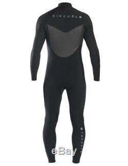 Rip Curl Dawn Patrol 4/3mm Chest Zip Wetsuit Men's Black Large