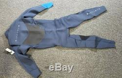 Rip Curl Dawn Patrol Chest Zip 3/2 Wetsuit, Blue, Mens Large/Short
