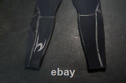 Rip Curl E3 Zip Free Wetsuit 4/3 Flashbomb Mens Size Large Black Great Cond