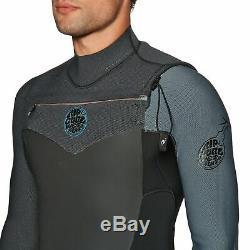Rip Curl Flashbomb 5/3mm 2019 Chest Zip Mens Surf Gear Wetsuit Black Grey