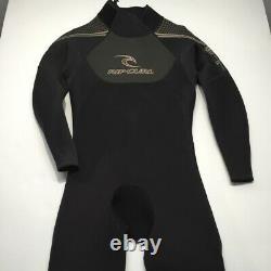 Rip Curl Men's Dawn Patrol Back Zip Full Wetsuit Black Large