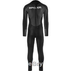 Rip Curl Omega 3/2mm Back Zip Wetsuit Men's Black X-Large
