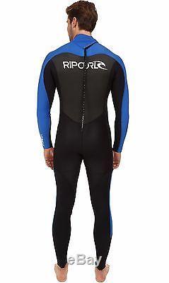 Rip Curl Omega 3mm Men's Neoprene Wetsuit Flatlock Back Zip Full Suit