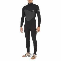 Rip Curl Omega 4/3mm 2019 Back Zip Mens Surf Gear Wetsuit Black All Sizes