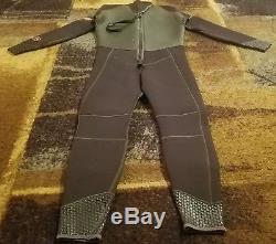 Scubapro Black Scuba/snorkel Full Silver Skin 5mm Wetsuit Size Large