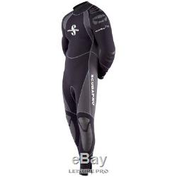 Scubapro EverFlex Steamer 5/4mm Men's Wetsuit, Black/Grey