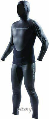Scubapro Mens Element 2PC Apnea 3mm Wetsuit Large, Black