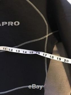 Scubapro NovaScotia 52(LARGE) Black Man Semi Dry Suit Scuba Diving