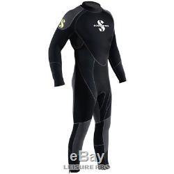 Scubapro OneFlex Steamer 5mm Men's Wetsuit, Black/Gray