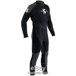 Scubapro OneFlex Steamer 7mm Men's Wetsuit, Black/Gray