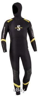 Scubapro Sport Semi-Dry Hooded 7mm Men's Black/Yellow