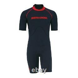 Sea Doo Men's 3mm Escape Shorty Wetsuit Black/Red Large 2867220930