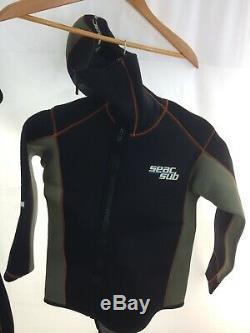 Seac Sub Men's 2 Piece Diving Wet Suit Size Large 5MM