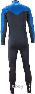 Size Large Sola Men's H2O 3/2mm Blue/Graphite Fullsuit Wetsuit