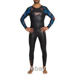 Speedo Proton Mens Swimming Triathlon Fullsuit Swimsuit Wetsuit Black/Blue L