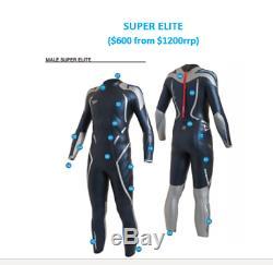Speedo Super Elite Triathlon Wet Suit NWT Wetsuit Wtsut Men's Mens Large Medium