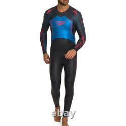 Speedo Xenon Mens Swimming Triathlon Fullsuit Swimsuit Wetsuit Black/Blue