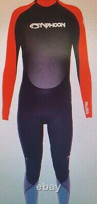 Storm Full wetsuit womens size 16/18 chest & hips 42 5mm Black red Typhoon L