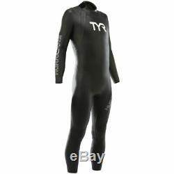 TYR Men's Hurricane Cat 1 Fullsleeve Triathlon Wetsuit Black/White Size M/L FS