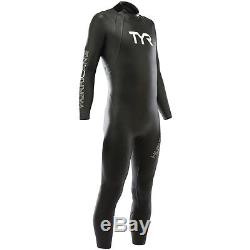 TYR Men's Hurricane Cat 1 Wetsuit-XL-Black-Triathlon-Swimming-New