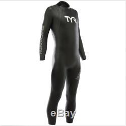 TYR Men's Hurricane Cat 1 WetsuitLarge-BlackTriathlonSwimmingNew
