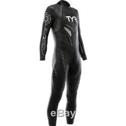 TYR Men's Hurricane Cat 3 Wetsuit-Medium/Large-Black/Silver-Triathlon-New