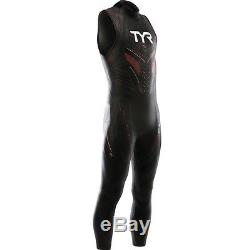 TYR Men's Hurricane Cat 5 Sleeveless Wetsuit-Large-Black/Red-New