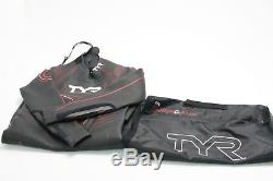 TYR Men's Hurricane Neoprene Wetsuit Category 5 Black/Red Extra-Large HCCVM6A
