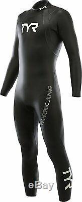 TYR Mens Hurricane Cat 1 Wetsuit-M/L-Black-Triathlon-Swimming