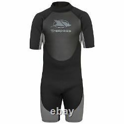 Trespass Scuba Mens Short Sleeved Black Neoprene Wetsuit for Diving Surfing