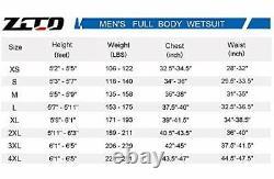 Ultra Stretch 3mm Neoprene Wetsuit, Front Zip Full Body Men's XXXX-Large