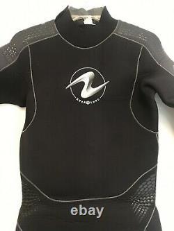 Used Aqua Lung Aquaflex Wetsuit 7mm Men's Size L Large Scuba Freedive