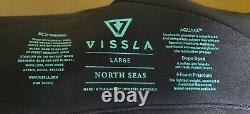 VISSLA Men's 4/3 NORTH SEAS CZ Full Wetsuit BLK Size Large NWT