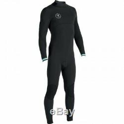 VISSLA Men's 4/3 SEVEN SEAS Back-Zip Full Wetsuit BLK Large Tall NWT